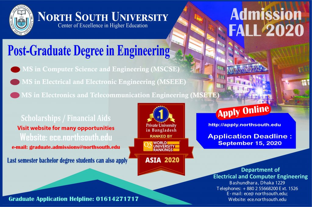 MS in Engineering Admission – Fall 2020
